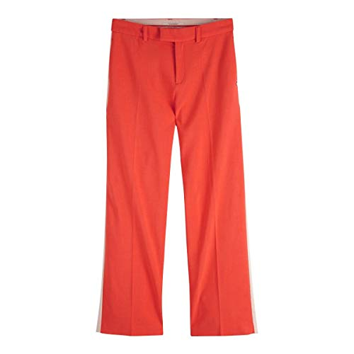 Large amp; Scotch Soda Stretch Corail Pantalon Bordure Et Avec Contrastante TqCwwdntxS