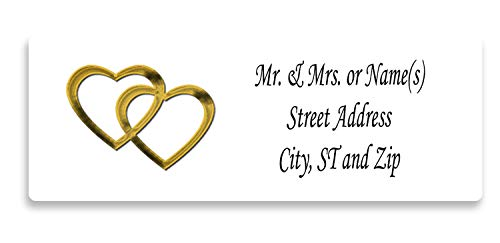Personalized Return Address Labels 120 Count - Couples - Large Labels 2 5/8 x 1