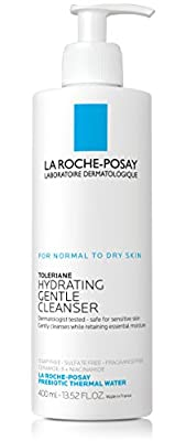La Roche-Posay Toleriane Hydrating Gentle Face Wash Cleanser for Normal To Dry Sensitive Skin, 13.5 fl. oz.
