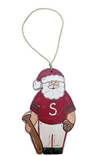 Santa Claus Pitcher - Baseball Santa Wooden Ornament