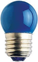 7.5 watt 130 volt S11 Medium E26 Standard Base Blue Incandescent Westinghouse Light Bulb