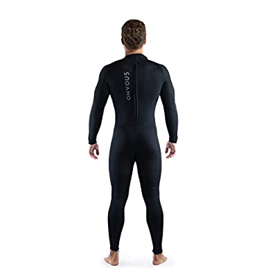 Onvous Men's FreeMotion Wetsuit | Fullsuit 3mm Neoprene w/Back Zip | Effortless Motion & 4-Way Stretch | Designed for Surfing, Stand-Up Paddle Boarding, Diving, Swimming, Kayaking, Ocean Recreation