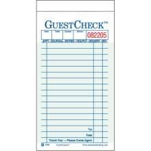 National Checking Company Carbonless Guest Check Paper - 2 Part Green, 17 Line, 3.4 x 6.75 inch - 50 per case.
