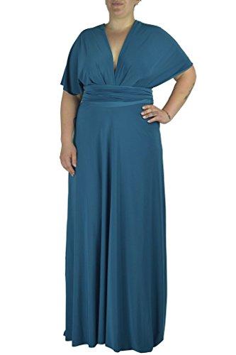 Dress Vonni Sizes Teal Size Infinity 3x Plus Transformer Von Xl