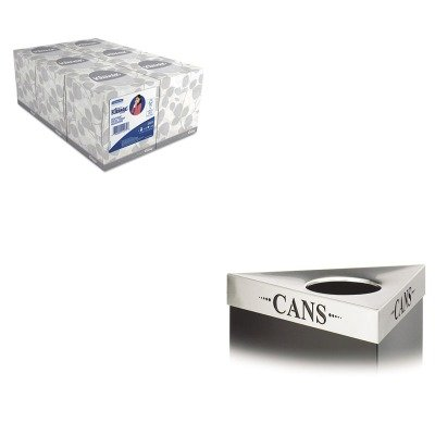 KITKIM21271SAF9560CZ - Value Kit - Safco Trifecta Waste Receptacle Lid (SAF9560CZ) and KIMBERLY CLARK KLEENEX White Facial Tissue (KIM21271) by Safco