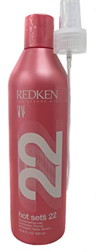 Redken Hots Sets 22 Thermal Setting Mist for Unisex, 16.9 Ounce