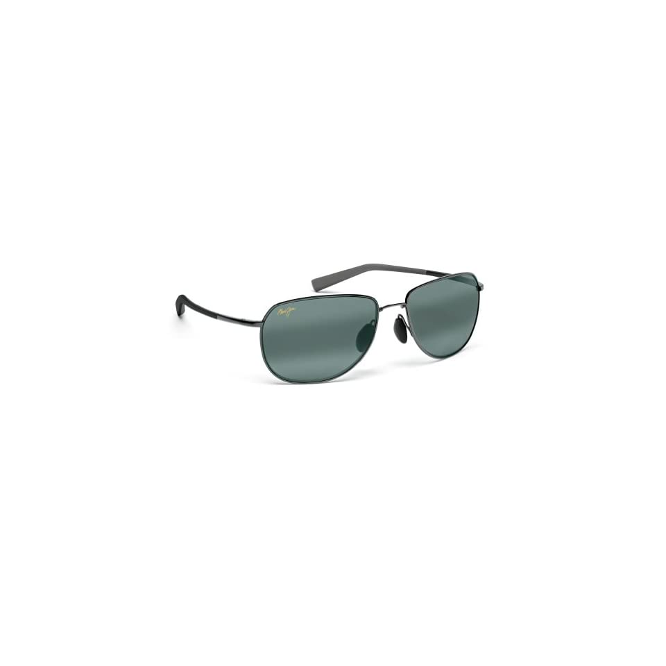 Maui Jim HT322 15A Gunmetal with Green Coconuts Aviator Sunglasses Polarised Clothing