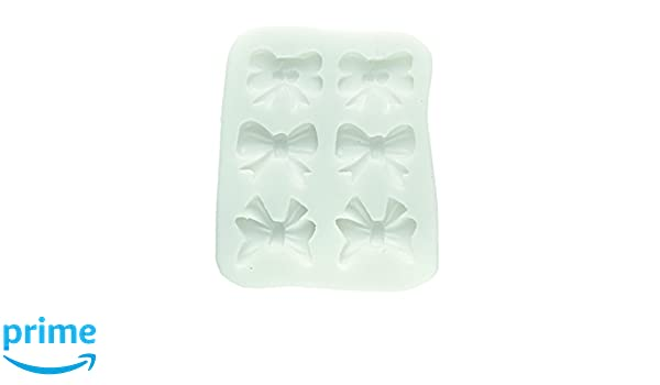 SLK199 Molde de Silicona para Pasta de azúcar con Forma de moños, Color Blanco: Amazon.es: Hogar