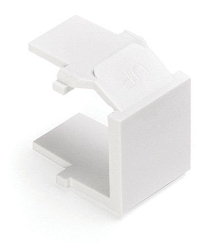 (Leviton 41084-W QuickPort Blank Insert, White, 20-Pack)