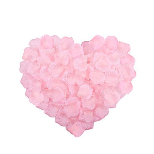 Neo LOONS 2000 Pcs Artificial Silk Rose Petals Decoration Wedding Party Color Light Pink