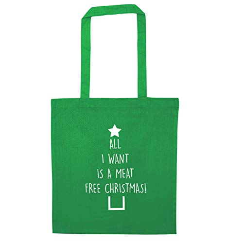 Christmas Bag Meat Tote Free Green Want Creative I Flox E0qfwxzPp
