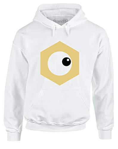 Hex Nut Face, Adults Hoodie - White/Black 2XL