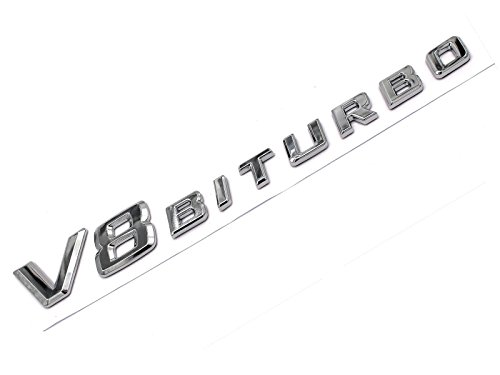 3D Emblem V8 Biturbo Inscription Chromé Plastique avec mousse de badge Collant de vmg Store CLS hergestellt für boost-key.com