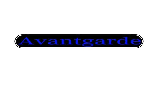 Color Negro y Cromo Avantgarde Emblema Benz 3D para Todos los Modelos