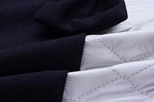 Invierno Otoño Patchwork Elegantes Capa Mujer Manga Fashion Con Casual Lazo Outerwear Chaqueta Chaquetas De Blau Larga Anchos Termica Capucha Largos xv7SPP