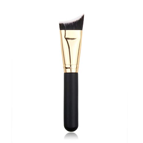 Professional Oblique Head Makeup Brush Wool Foundation Brush Cosmetic Brush (Color - Gold)