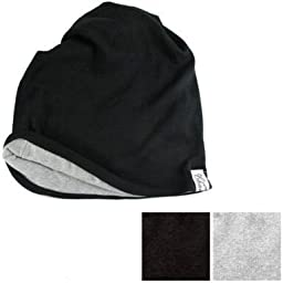 Casualbox mens Organic Neck Warmer Headband Beanie Outdoor Black~Light Gray