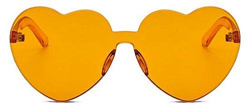 Gafas Sol Coloreado de GLASSES Adulto Orange amp;L Para Gafas Hombres Mujeres Lente Gafas Retro Unisex J 7zRqwn