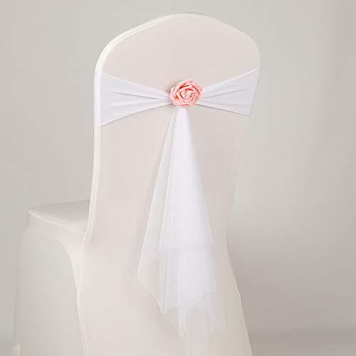 Dosige Stretch-Stuhl-Bez/üge Elastische Hussen Stuhlschleifen mit B/ögen und Schnallen f/ür Bankett Hochzeit Geburtstagsfeier Hochzeit Requisiten Dekor Spandex 15cm*35cm Stil-11