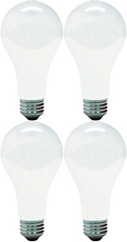 GE 11585-4 A21 Incandescent Soft White Light Bulb, 200-Watt, 4-Pack