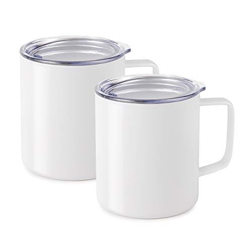 Maars Drinkware 79711-2PK Townie Stainless Steel Insulated Coffee Mug Double Wall Vacuum Sealed Tumbler-14 oz, 2 Pack, ()