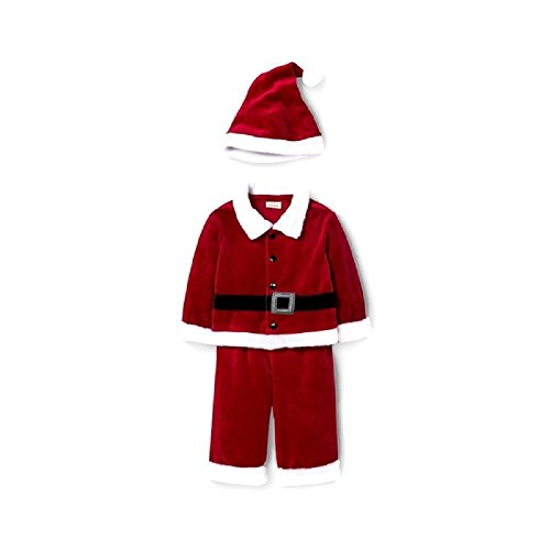 Baby Boys' 3 Piece Santa Suit Red - 6/9 month