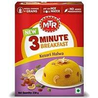 - Pack of 2 - MTR Instant Kesari Halwa - 3 Minute Breakfast - 230 gms (8.11 Ounces Each)
