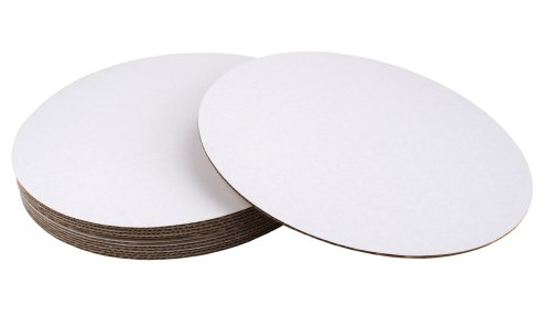 Fox Run 4369 Round Cake Base, Cardboard, 12-Inch, Pack of 8 - Disposable Cake Plates