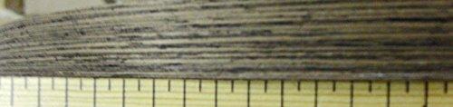 Wenge composite wood veneer edgebanding 1/2