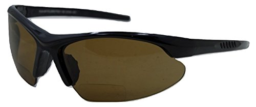 In Style Eyes Blazin Maui Wrap Polarized Nearly Invisible Line Bifocal Sunglasses Brown - Line Brown Glasses