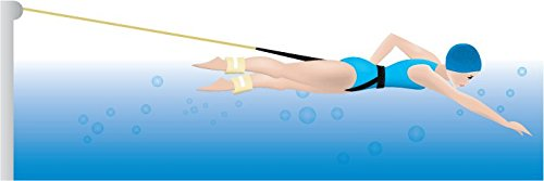 e Needed (Click & See Why in The Product Description) Stationary Swim Tether/Belt with Integrated Buoyancy for Low Impact Exercise in Your own Pool ()