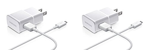 Samsung 2-Amp Adapter Data Cable for Samsung Mobiles, 2 Pack - Non-Retail Packaging - White (List Of Best Samsung Phones)