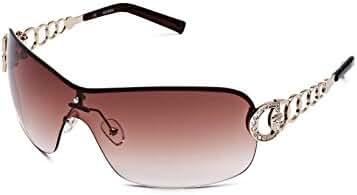 GUESS Factory Women's Rimless Shield Sunglasses