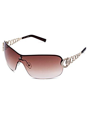 GUESS Women's Rimless Shield Sunglasses