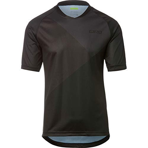 Giro Roust Short-Sleeve Jersey - Men's Black/Charcoal Shadow, L