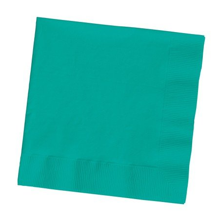 - Creative Converting 100 Gorgeous Teal Lagoon Lunch/Dinner Napkins for Wedding/Party/Event, 2ply, Disposable, Large Size 6.5