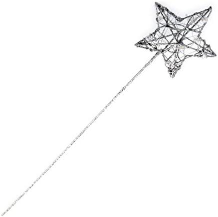 GLITTERED STAR SHAPED WANDS WEDDING. BRIDESMAID FLOWER GIRL PRINCESS