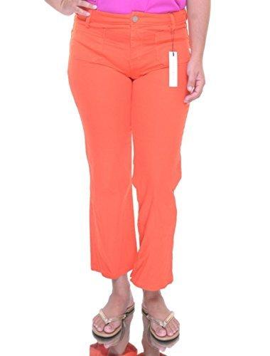 Sanctuary Womens White Denim Classic Rise Bootcut Jeans Orange 24