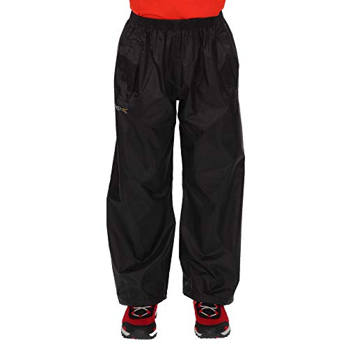Regatta Unisex Kids Kids Stormbreak Waterproof Taped Seams 2 Side Pockets Press Studs at Hem Over Trousers Overtrousers