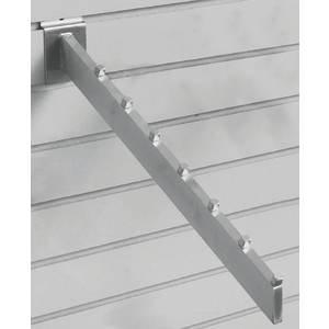 Slatwall Display Hooks (Satin Chrome 7-Cube Slatwall Waterfall)