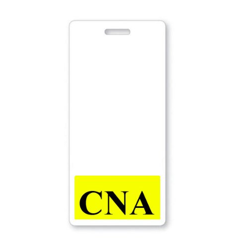 CNA Vertical Badge Buddy with Yellow Border by Specialist ID, Sold (Best Specialist Id Cnas)