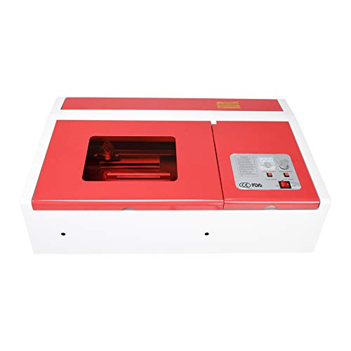 Orion Motor Tech 40W Co2 Laser Engraving Cutting Machine, 12 x 8 Inches K40  Desktop DIY Wood Laser Engraver Cutter (Red)