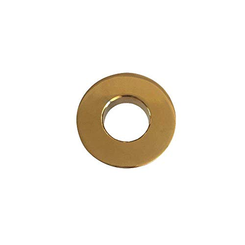 Greenspring Sink Basin Trim Overflow Cover Brass Insert in Hole Round Caps Gold