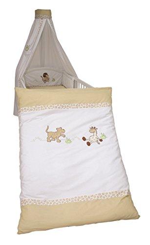 Roba Kinderbettwäsche Bettwäsche 2-teilig 100x135 40x60 cm Safari