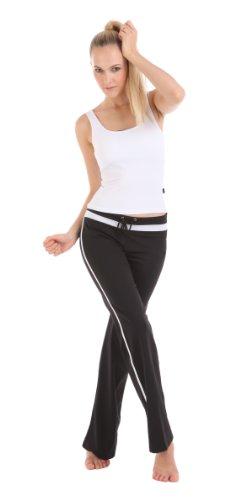 Colorfulworldstore Yoga Fitting Workout Clothing Summer suits 2 Sets(Long Yoga Vest+Yoga Pants) (M 150~160CM >=48KG, White+Black)