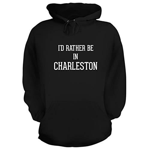 I'd Rather Be in Charleston - Graphic Hoodie Sweatshirt, Black, X-Large
