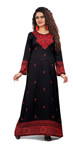 TrendyFashionMall Womens Trendy Printed Round Neck Kaftans Abayas Multiple Colors & Designs
