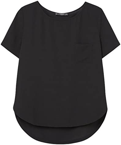 MANGO - Camisas - para mujer negro negro 42: Amazon.es: Ropa ...