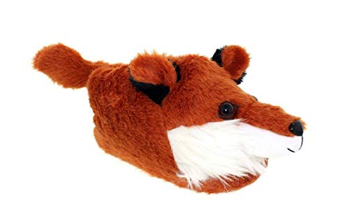 - 9096-4 - Fox - X-Large - Happy Feet Animal Slippers