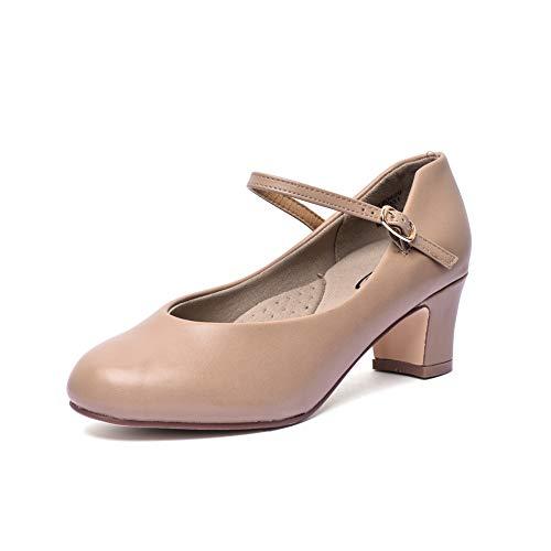 STELLE 2'' Character Dance Shoe (Women/Big Kid)(Tan, 11M) by STELLE